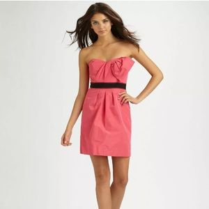BCBG Max Azaria  Taffeta Empire Bow Mini Dress